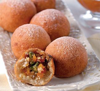 Быстрые творожно-фруктовые пончики | Рецепты с фото