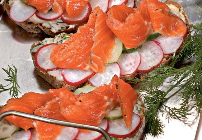 Датский открытый сэндвич | Рецепты с фото