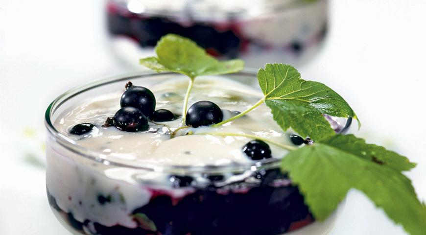 Десерт из черной смородины | Рецепты с фото