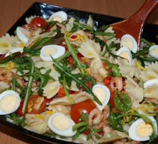 Фарфалле с морепродуктами и рукколой | Рецепты с фото