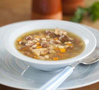 Фасолевый суп с подберезовиками | Рецепты с фото