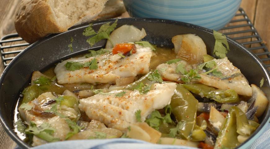 Филе трески с летними овощами | Рецепты с фото