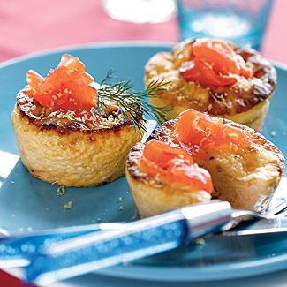 Фриттата с лососем, укропом и камамбером | Рецепты с фото