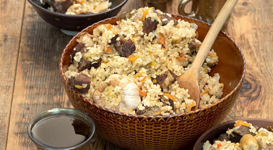 Городской плов с бараниной и грибами | Рецепты с фото