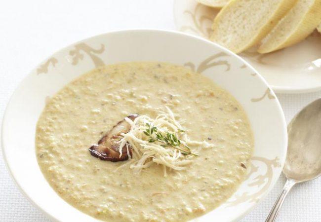 Грибной суп  с курицей и яблоками | Рецепты с фото
