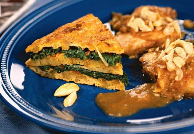 Грудка индейки с финиками и яичным пирогом | Рецепты с фото