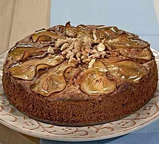 Грушевый пирог с грецкими орехами | Рецепты с фото
