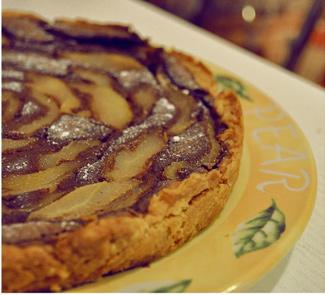 Грушевый пирог с шоколадным заварным кремом на творожном тесте | Рецепты с фото