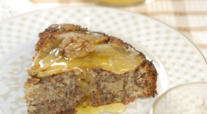 Грушевый пирог с шоколадом | Рецепты с фото