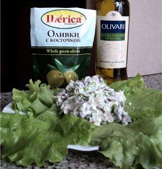 Испанский салат с грибами  (Ensalada de setas)   Рецепты с фото