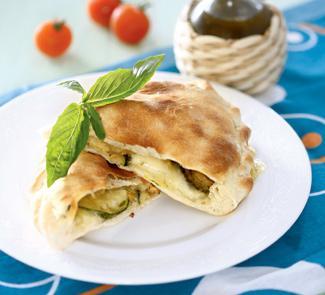 Кальцоне с цукини, оливками и моцареллой | Рецепты с фото