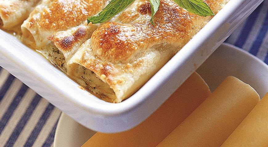 Каннеллони с сыром и зеленью | Рецепты с фото