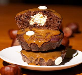 Капкейки шоколадные с карамелью | Рецепты с фото