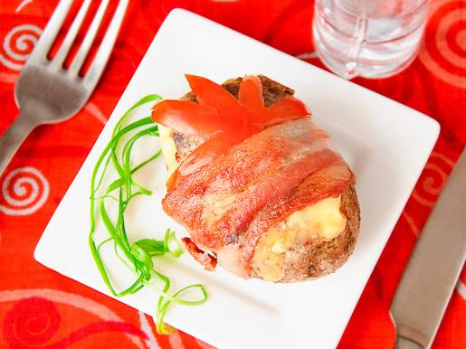 Картофель с грибами в беконе   Рецепты с фото