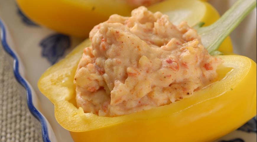 Картофельное пюре с перцами и чесноком   Рецепты с фото