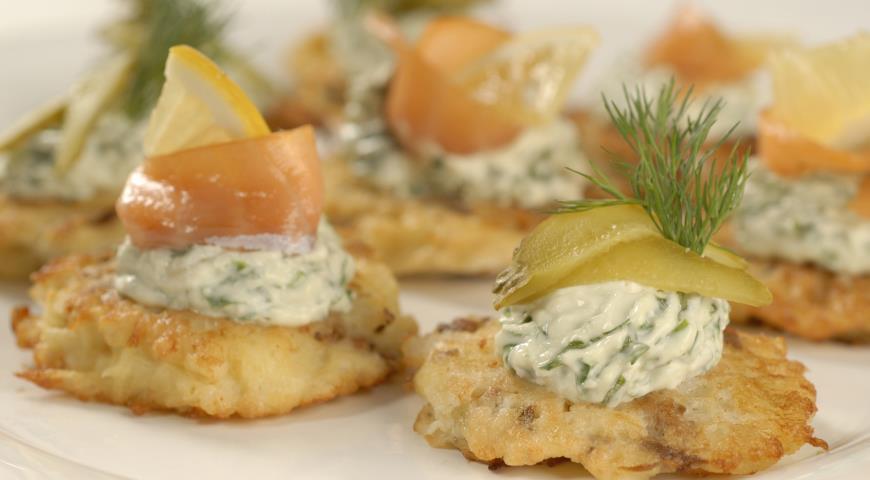Картофельные латкес с грибами | Рецепты с фото