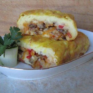 Картофельный рулет с овощами | Рецепты с фото