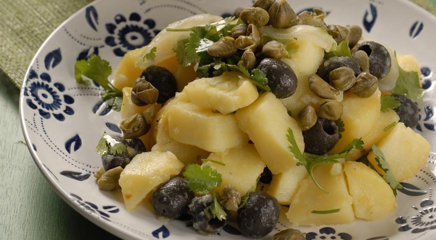 Картофельный салат по-критски   Рецепты с фото