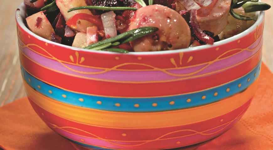 Картофельный салат с сардельками | Рецепты с фото