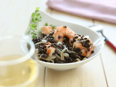 Каталонский салат с черной чечевицей | Рецепты с фото