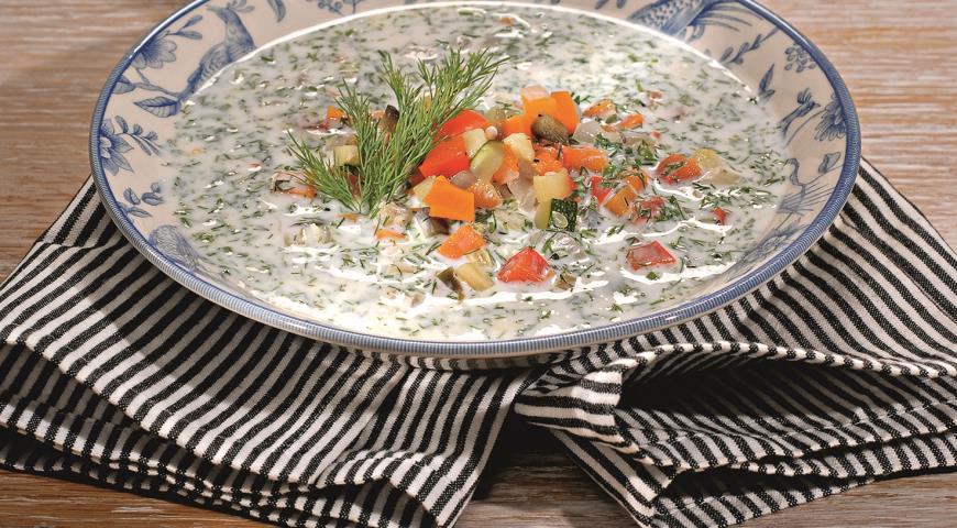 Кефирный суп с овощами | Рецепты с фото
