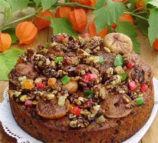 Кекс Сказка с глазированными фруктами и орехами | Рецепты с фото