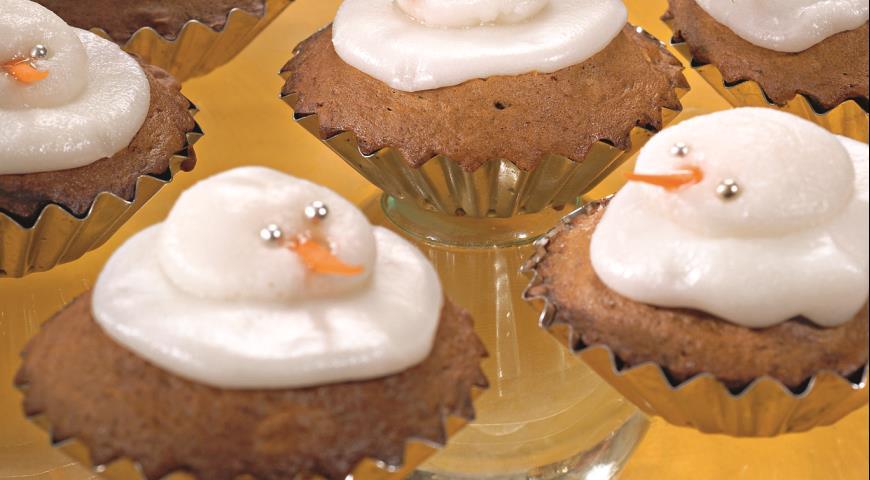 Кексы Снеговики | Рецепты с фото