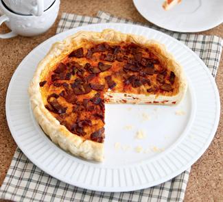 Киш с карамелизованным перцем | Рецепты с фото