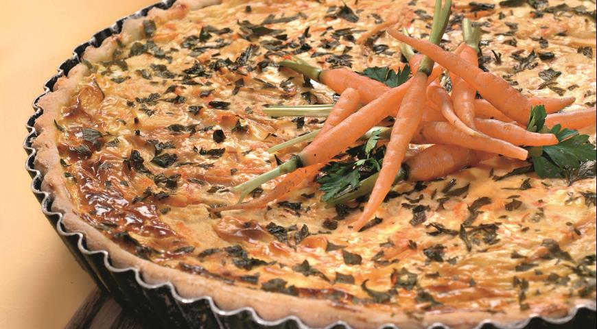 Киш с перцем и морковью | Рецепты с фото