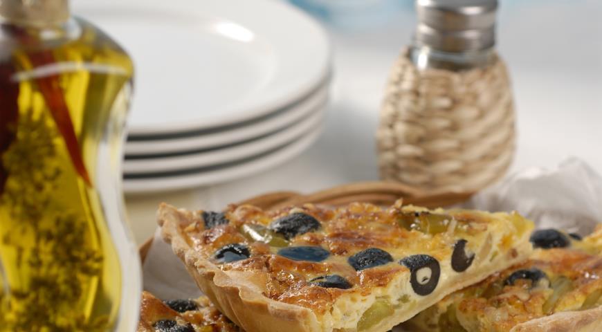 Киш со сладким перцем и маслинами   Рецепты с фото
