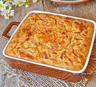 Клафути из молодой капусты, паприки и бекона | Рецепты с фото