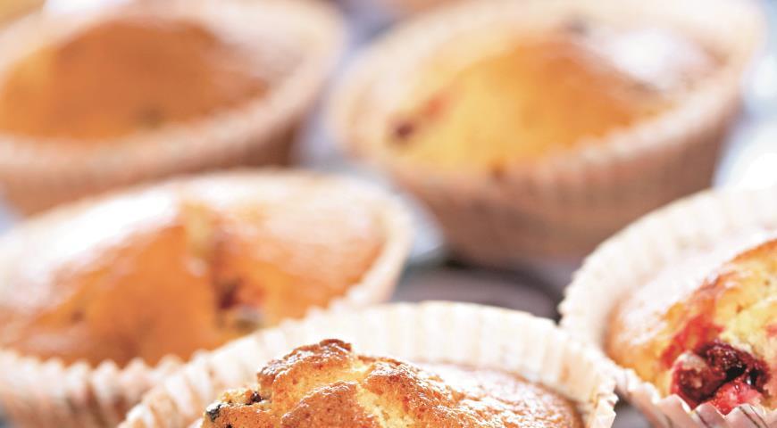 Клюквенные кексы | Рецепты с фото