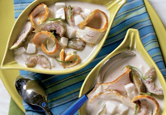 Кокосовый суп с инжиром и курицей | Рецепты с фото