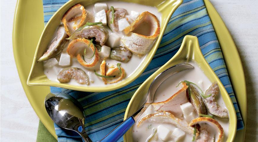 Кокосовый суп с инжиром и курицей   Рецепты с фото