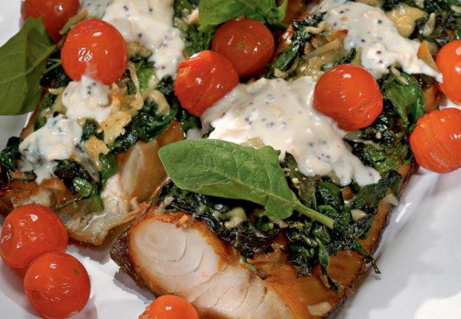 Копченая рыба со шпинатом | Рецепты с фото