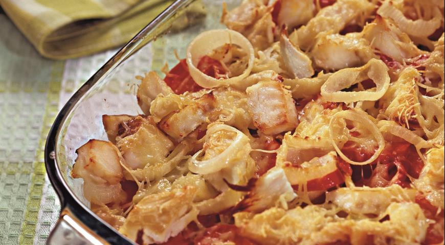 Копченая рыба, запеченная с овощами | Рецепты с фото
