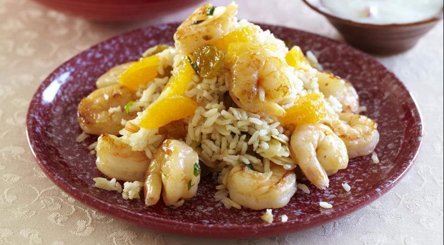 Коричневый рис с креветками | Рецепты с фото