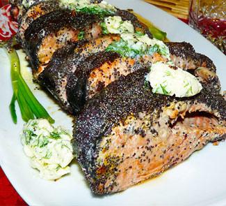 Красная рыба (кижуч) в маковой панировке | Рецепты с фото