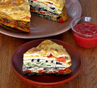Креспу, закусочный омлет с начинками | Рецепты с фото