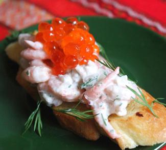 Креветки на тостах (Skagen) | Рецепты с фото