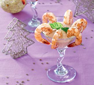 Креветочный коктейль с томатным дипом | Рецепты с фото