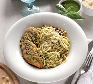 Куриная грудка в песто со спагетти | Рецепты с фото
