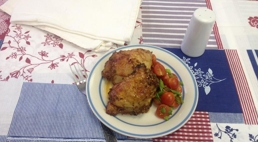 Куриные бедрышки с острым перцем и медом | Рецепты с фото