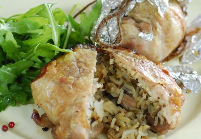Куриные мешочки с рисом | Рецепты с фото
