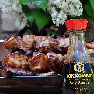 Куриный шашлык в медово-соевом соусе | Рецепты с фото