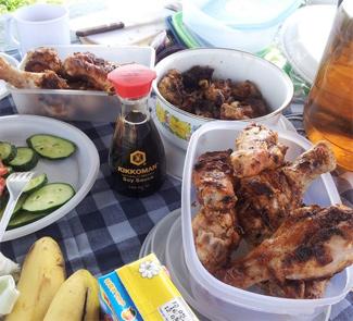 Куриный шашлык в соевом соусе | Рецепты с фото