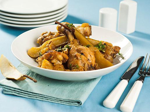 Курица с медом и грушей | Рецепты с фото