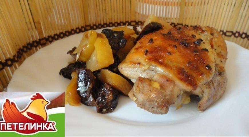 Курица в рукаве с черносливом | Рецепты с фото