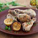 Курица, запеченная с лимонами | Рецепты с фото