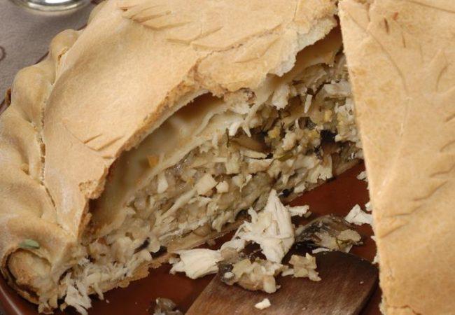 Курник с рисом и грибами | Рецепты с фото